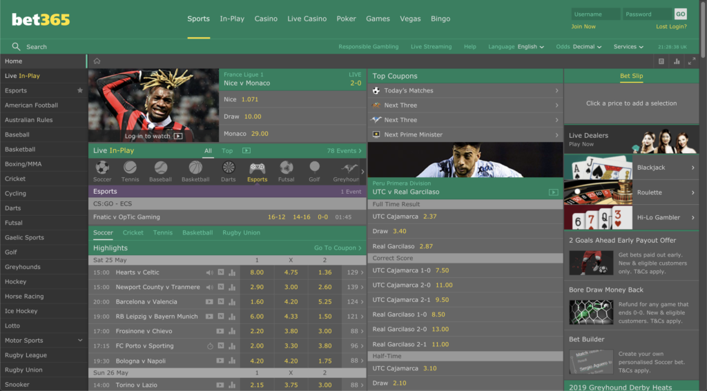 Security and safety of betting with Bet365